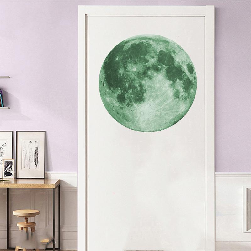 Energy Storage Fluorescent Glow In the dark DIY 3D Moon Earth Wall Stickers for Kids Rooms Decor Home decoration