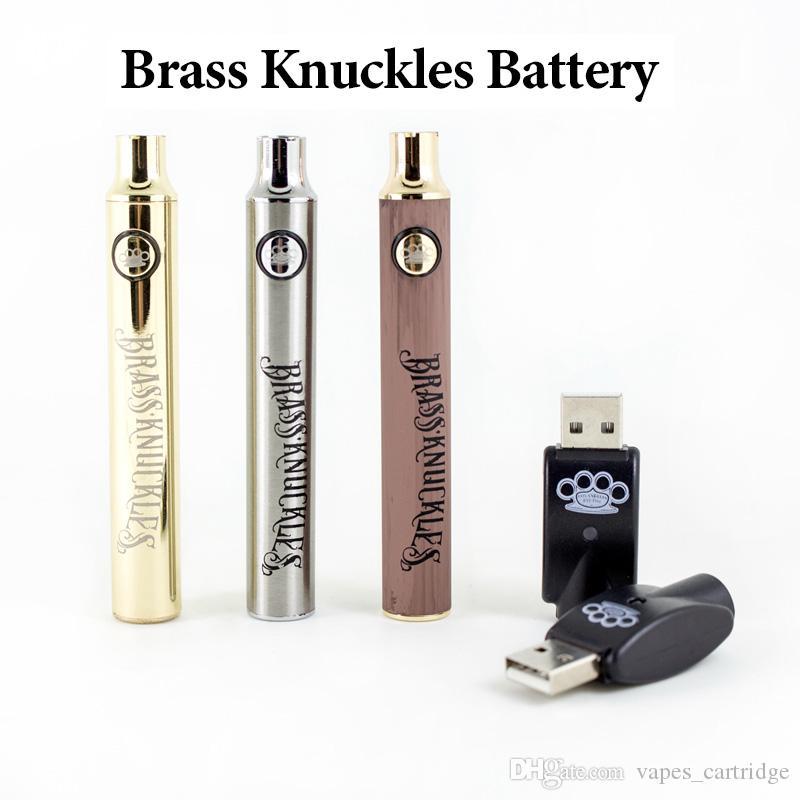 Juntas de bronze Pré-aqueça o VV 510 Tópico Battery 650mAh 900mAh 3 cores opcionais Tensão ajustável Vape Pen bateria com carregador inteligente USB