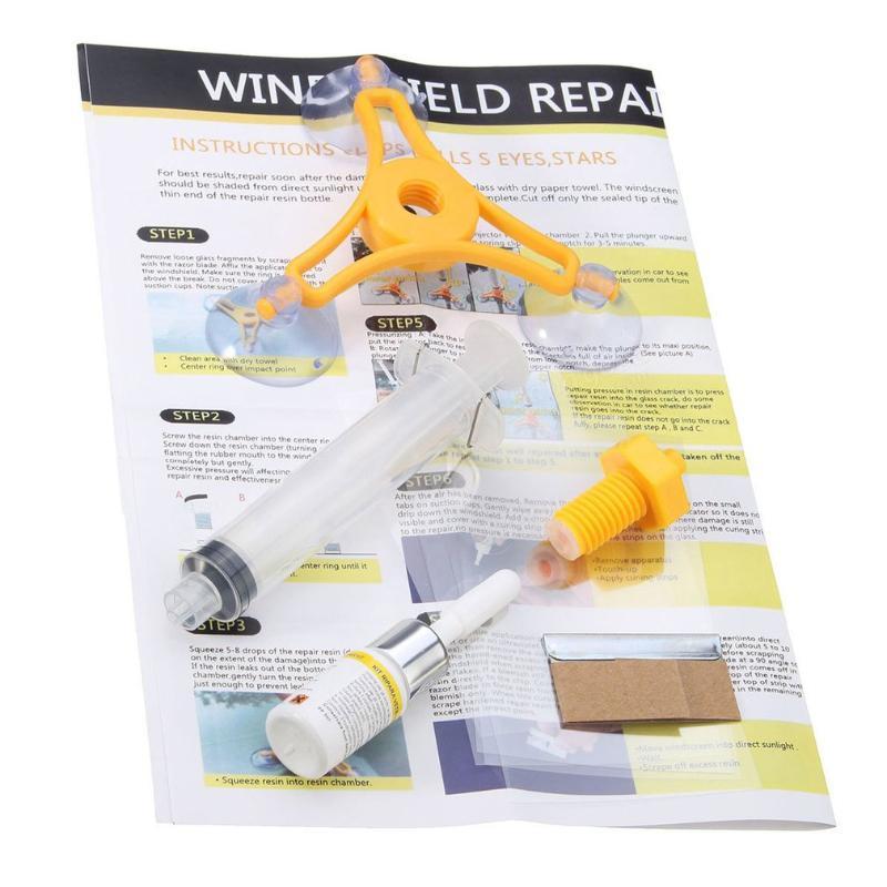 Универсальный профессиональный DIY автомобильный комплект для ремонта лобового стекла автомобиля ремонт ветрового стекла восстановление трещин стекла инструменты для укладки автомобилей