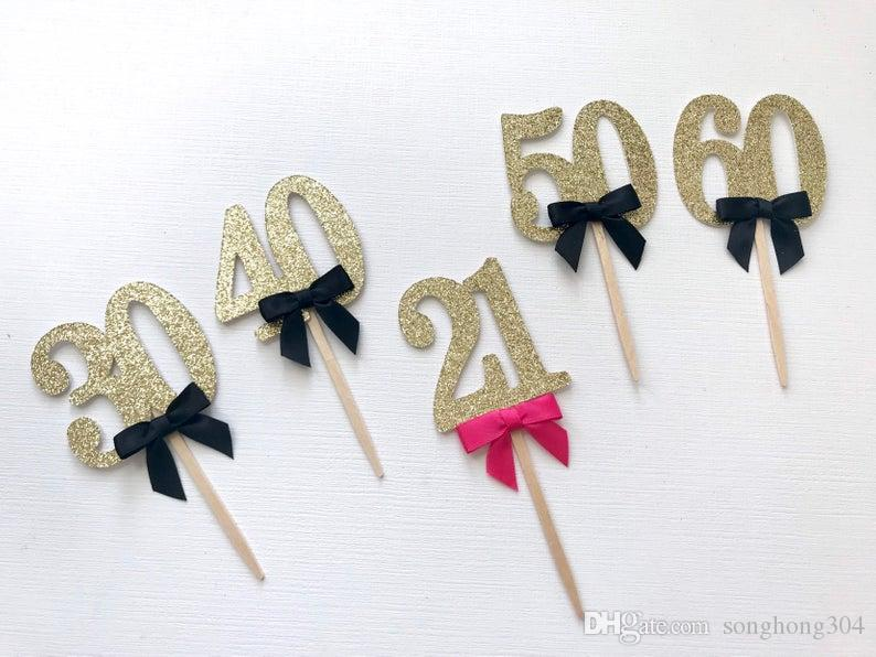 Custom personality cheap 60th 30/40/50/70 Cupcake Toppers. Birthday Cupcake Topper. Cupcake Decoration. Secret Garden Party Decoration