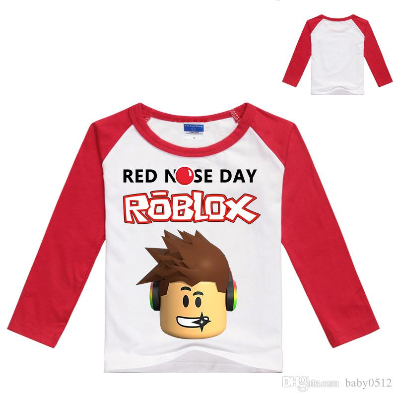 2020 Boys Girls Designer Roblox Red Nose Day T Shirts Black White