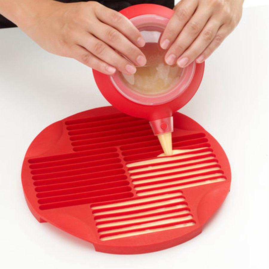 Food Grade silicone figura della barretta biscotto Stampi fai da te cioccolato Lollipop Mould lunga striscia del biscotto Teglia RRA3091