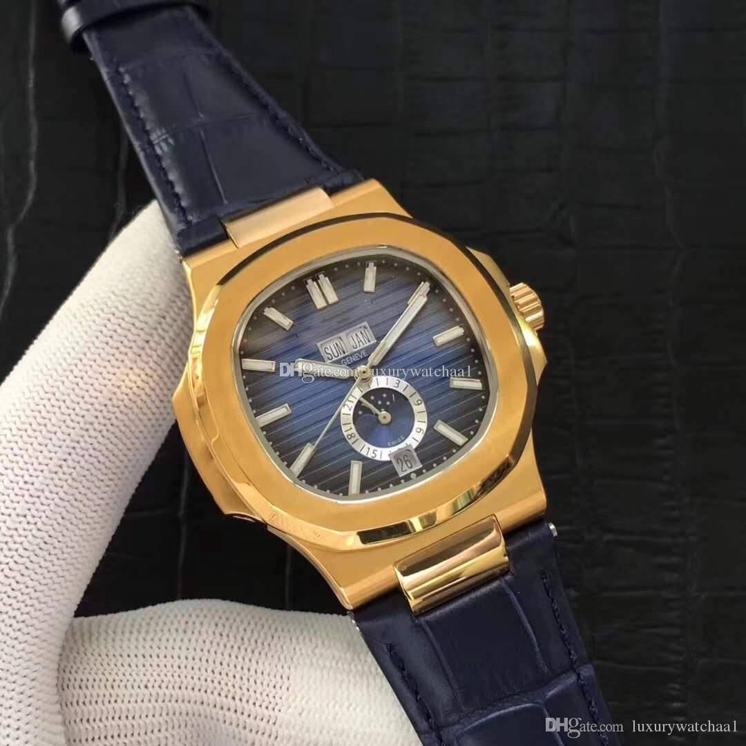 جديد فاخر رجل ساعة Stalinless الصلب الذهب الهاتفي تاريخ الميكانيكية الساعات التلقائي مصمم نوتيلوس 5726 سلسلة الرياضية ساعة اليد أفضل هدية
