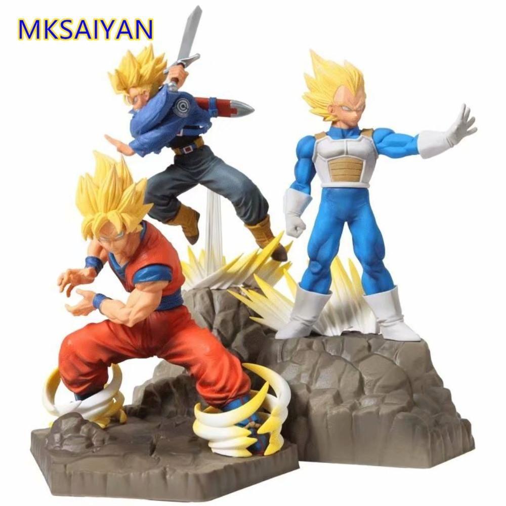 Dragon Ball Z Son Goku Vegeta Trunks Super Saiyan APF Action Figure Toys for Children Anime Collector Brinquedos DBZ Doll Figure T200610