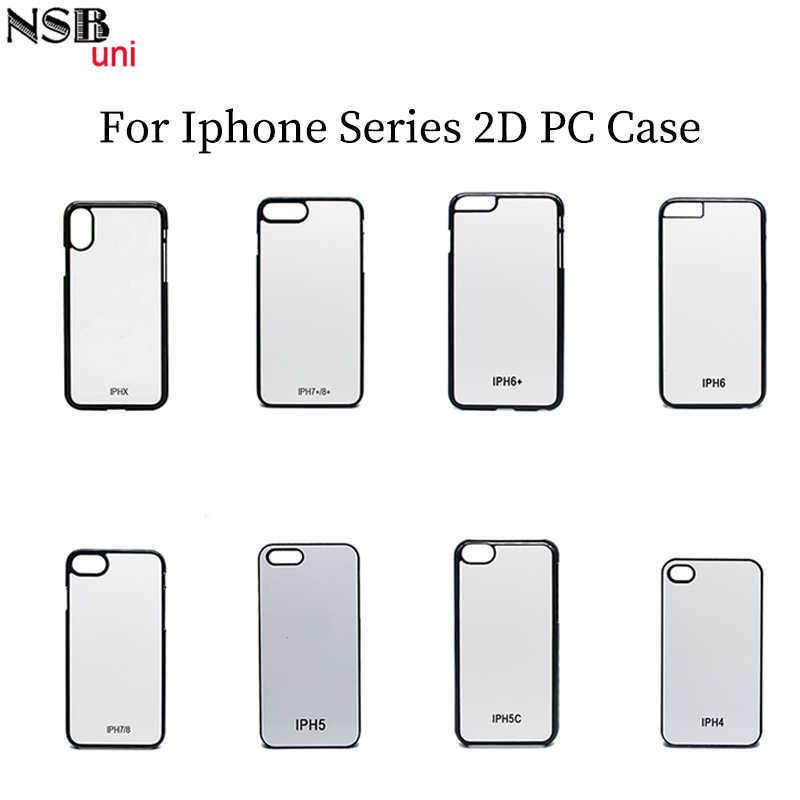 Nsbuni Sublimation Blank 2d Pc Hard Case For Iphone Pc Print Phone Case Picture Photo Printing Plain Cell Phone Case