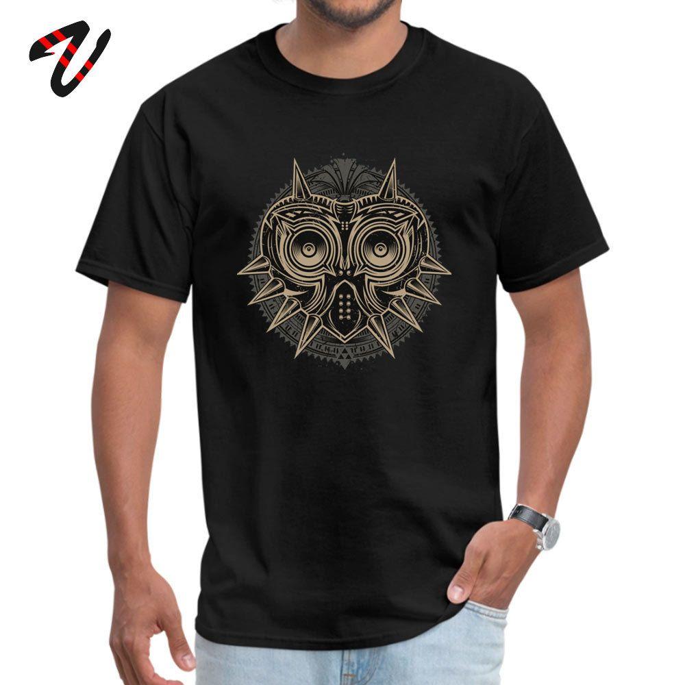 Zelda Majoras Mask 100% Cotton Tops Shirt for Men Normal Tshirts Casual Brand O-Neck Tops Shirt Gintama Military Wholesale