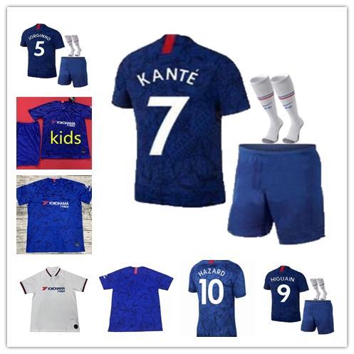 2019 2020 erwachsene Kinder Jorginho GEFAHR GIROUD Männer Fußball Jersey Boys SäTZE 19 20 FABREGAS WILLIAN HIGUAIN MORATA KANTEN Kids Fußball-Kits Shirt