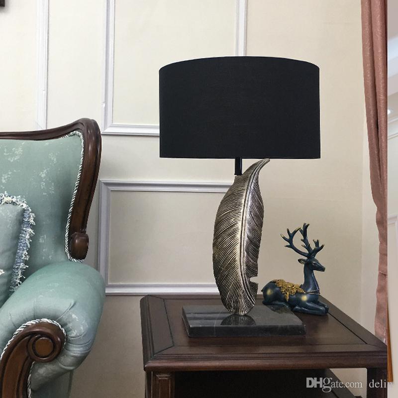 Nordic Современные настольные лампы E27 простой смолы Настольная лампа декоративные Гостиная ночники AC 90-260V