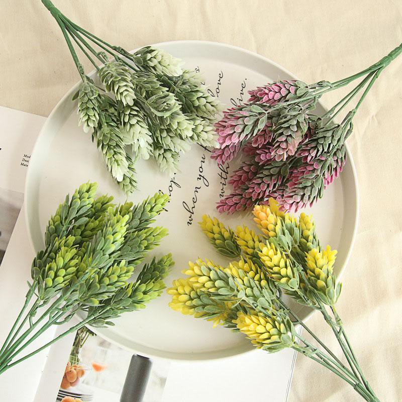 1pc 21 Heads Artificial Pineapple Flowers Fake Plastic Green Leaves Flores DIY Flower Arrangements Wedding Decoration Plant Leaf