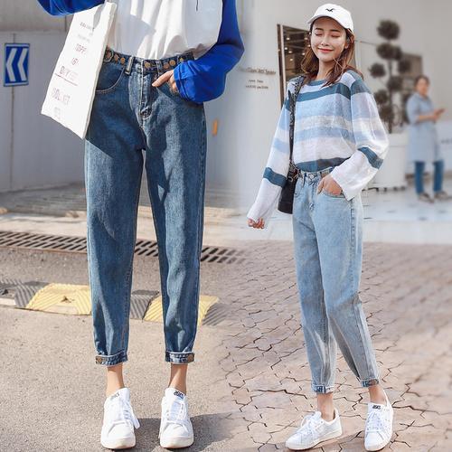 Compre Pantalones Vaqueros Sueltos Para Primavera Verano 2019 Mujer Cintura Alta Boyfriend Jeans Mujeres Tallas Grandes Vintage Pantalones De Mezclilla Pantalones Mujer A 17 46 Del Xianfeiyu Dhgate Com