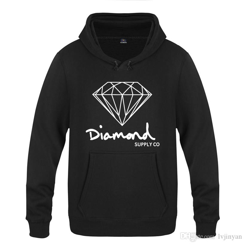 Diamond Supply Co Coole Hoodies Männer Streetwear Hip Hop Sweatshirts Mann Winter Herren Fleece Langarm Skateboard Pullover