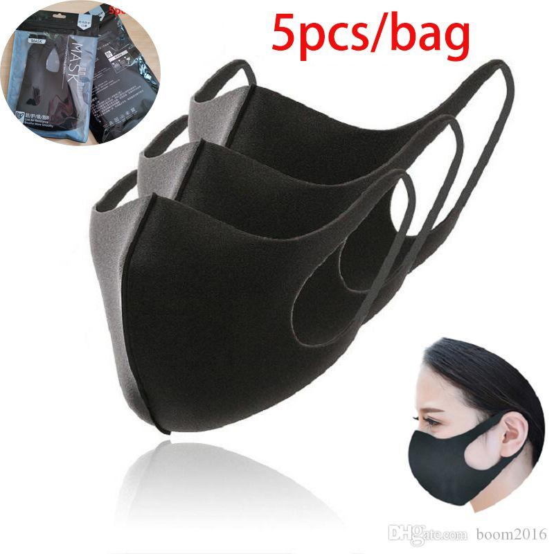 5pcs / torba Ağız Maske Karşıtı Haze Toz Yıkanabilir Yeniden kullanılabilir Kadın Erkek Çocuk toz geçirmez Ağız-mufla Yüz Ağız Maskeleri Maske 30x13cm boom2016