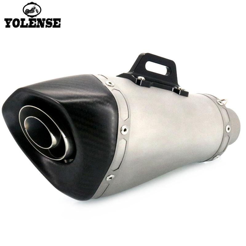 Para CB400 CB600F CB650F CB1000R CBR600RR CBR1000RR CB500F Inlet 51mm Motorcycle Modified Carbon Fiber Exhaust Muffler Cachimbo