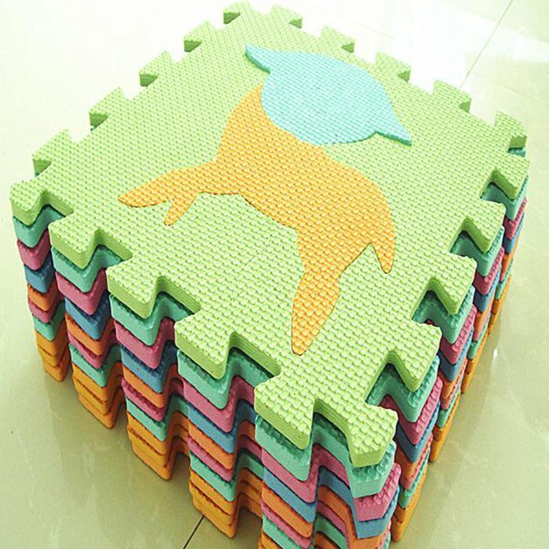 10pcs EVA Foam Baby Kids Home Play Mat Alphabet Number Animal Puzzle 30x 30cm