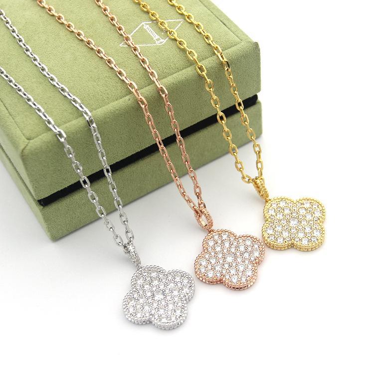 Mulher colar de pingente de alta qualidade única flor Moda Coreia 2.020 novas jóias de luxo flor rosa de ouro camisola cadeia de aço inoxidável
