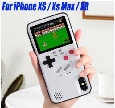 도매 컬러 디스플레이 (36) 클래식 게임 전화 케이스 아이폰 X XS 최대 XR 6 7 8 플러스 콘솔 게임 소년 소프트 커버 아이폰 (11) 프로 맥스