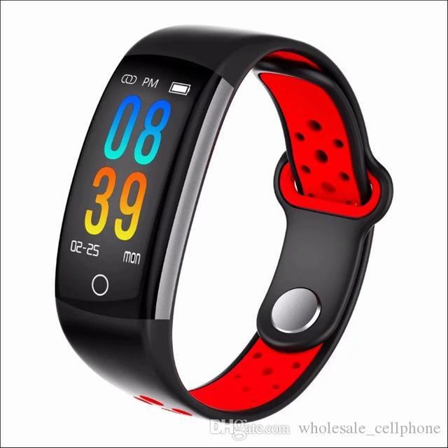 الأكسجين Q6 للياقة البدنية المقتفي الذكية سوار HR ضغط الدم مراقب الذكية الساعات الدم للماء IP68 ساعة اليد للحصول على الروبوت IOS الهاتف
