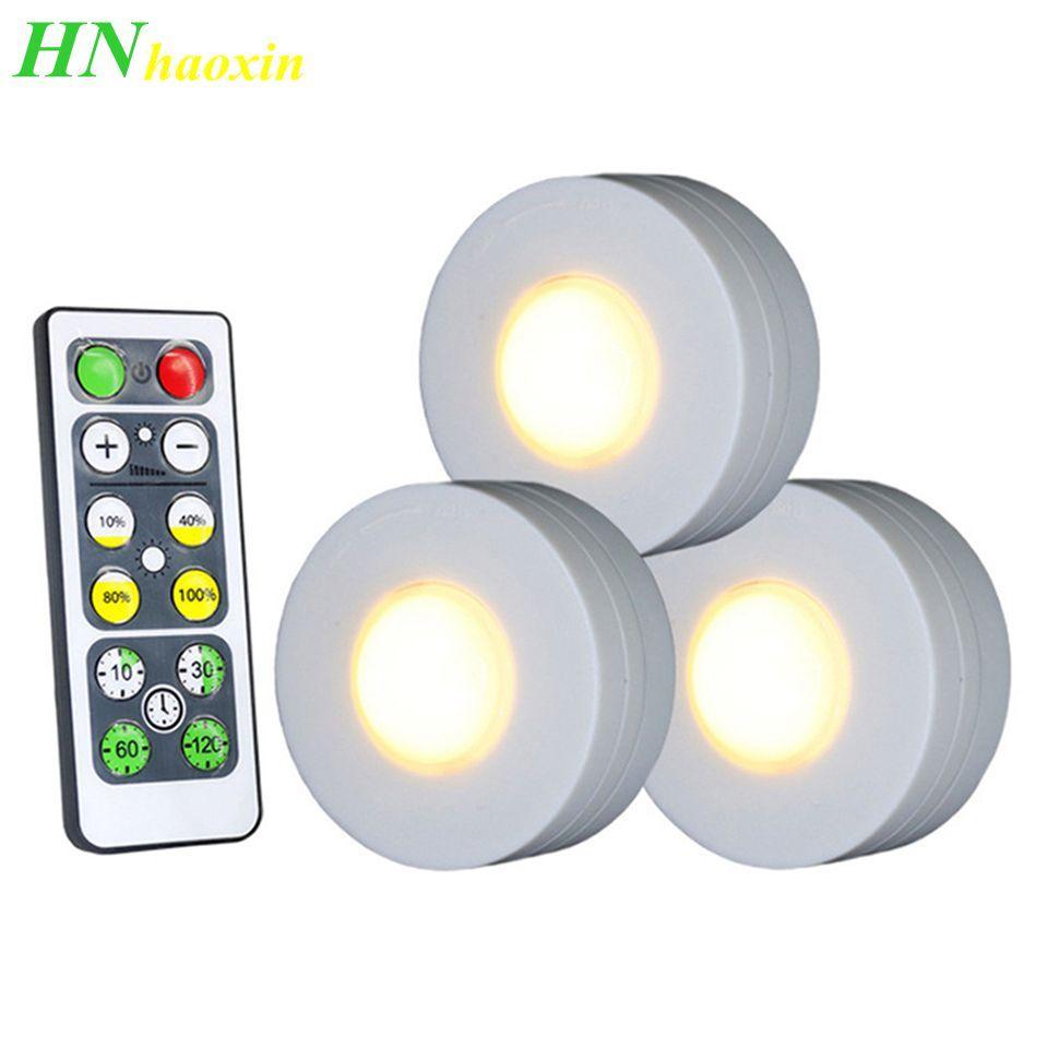 Touch Sensor Haoxin Wireless LED dimmerabili Sotto Armadi da cucina si accende luci Puck LED per la lampada di chiudere armadio Stair disimpegno notte