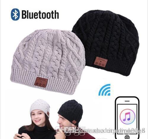 Warm Soft Beanie Wireless Bluetooth Hat Cap Headset Headphone Speaker Mic Stero Voice