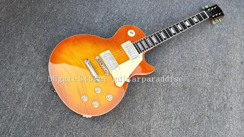 사용자 정의 가게 기타 표준 1959 재발행 VOS 꿀은 일렉트릭 기타 악기 버스트