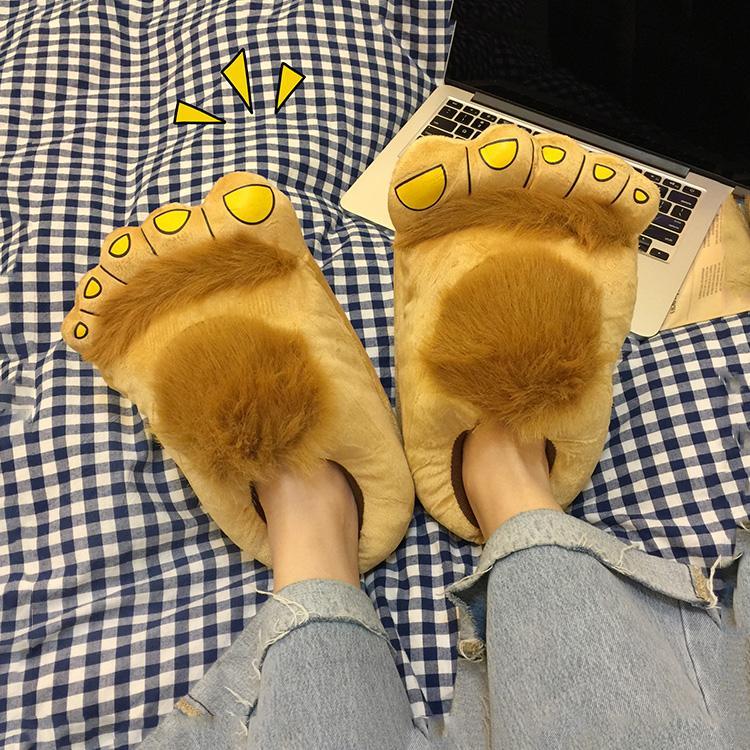 scarpe di Halloween per le donne i pattini dei pistoni casa calda pantofole hobbit donne inverno divertente interni piedoni