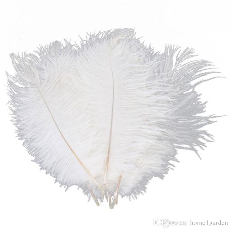 10pcs White ostrich feather plume 20-25cm for wedding centerpiece Wedding decor Party Decor supply feative decor