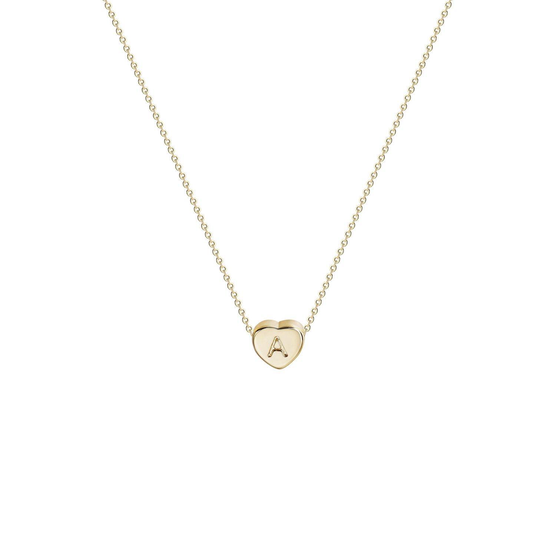 جديد حار القلب الأولي قلادة-14K الذهب والمجوهرات معبأ اليدوية داينتي شخصية 26 رسالة القلب المختنق قلادة هدية المرأة قلادة