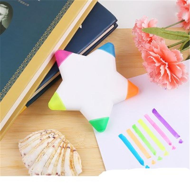 Escuela Highlighter Highlighter Marcador multicolor creativa pluma de la historieta para el regalo de los niños de dibujo de escritorio del estudiante de papelería