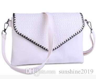 Fashion Soft Leather Envelope Design Handbag Women Pentagram Ladies Clutches Bag Evening Party Leather Handbag