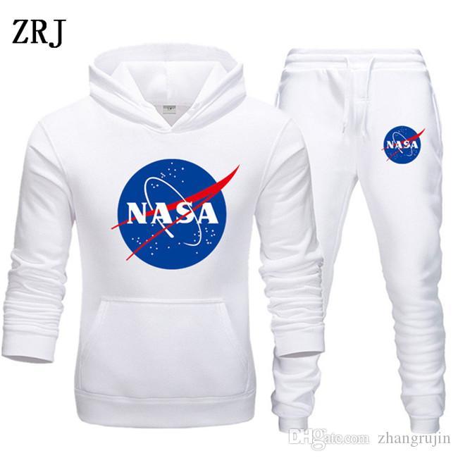 Fashion Designer NASA Tuta Primavera Autunno casuale Unisex marchio di abbigliamento sportivo Mens dei vestiti di pista di alta qualità con cappuccio Abbigliamento Uomo EL-15