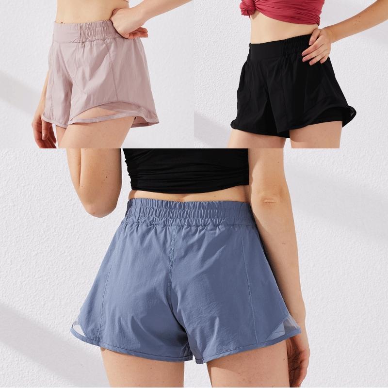 Shorts yoga casual per pantaloni delle donne delle donne quick-dry di sport atletici esecuzione di allenamento Pantaloncini adulto Forma sportivo B54F