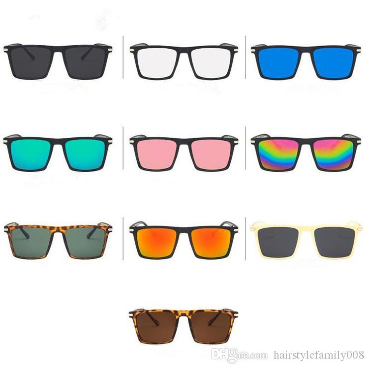 Мода женщины мужчины личность солнцезащитные очки классический прямоугольник солнцезащитные очки анти-УФ очки Goggle ретро очки Goggle Adumbral a++