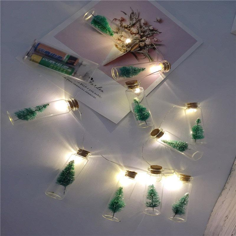 BRELONG 1 메터 10LED 크리스마스 빛 문자열 방수 배터리 상자 빛 LED 로프 크리스마스 트리 축제 조명 웨딩 조명