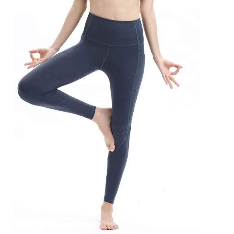New hip yoga pants female European and American high waist sexy solid color leggings running fitness sports leggings