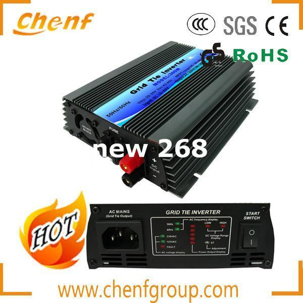 Freeshipping ! ( 1 Piece Sale) 300W 22-60VDC Input DC to AC Wind Solar Grid Tie Inverter / Microinverter With AC110V/220V