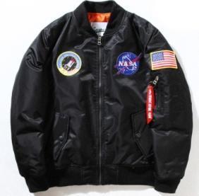 Mens NASA Bomber Jacket Insignia USAF Kanye West Hip Hop Mens Спорт Мужской Ветровка Flag Spring Thin Mens Designer Leather7735 #