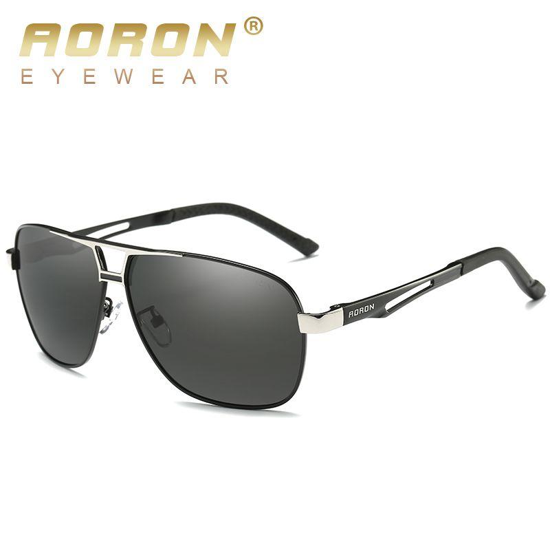 Aoron солнцезащитные очки мужские поляризованные солнцезащитные очки алюминиевая рама UV400 солнцезащитные очки роскошный дизайн очки ширина 145 мм