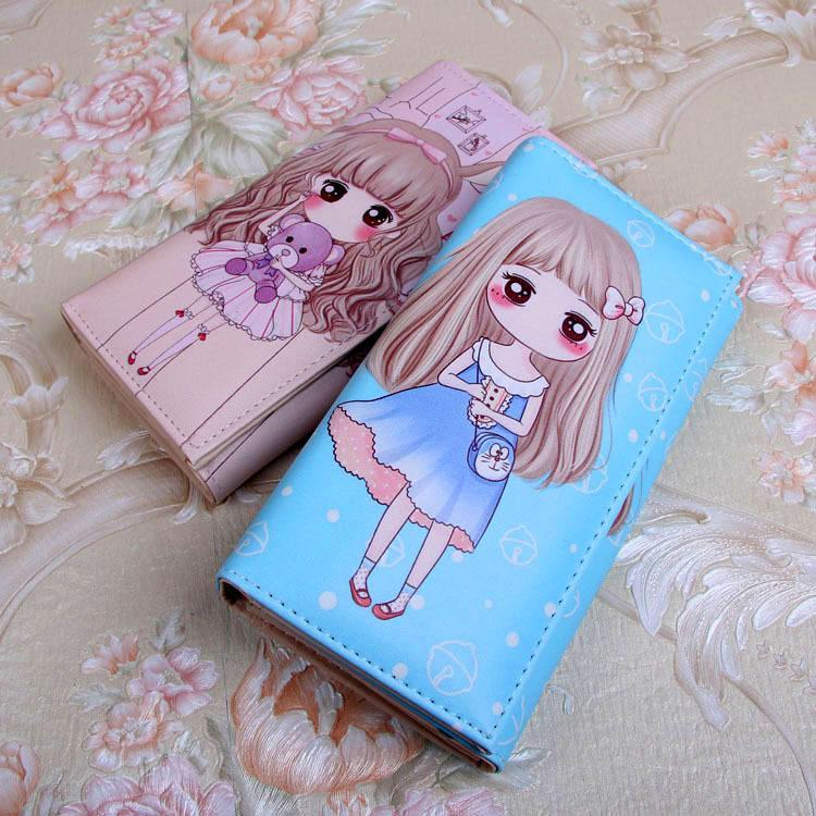 Raccoglitori delle donne borse della signora riccone delle ragazze del fumetto della borsa della moneta Notecase Borse Pocket Wallet Clutch Holder ID Cards sacchetti sacchetto