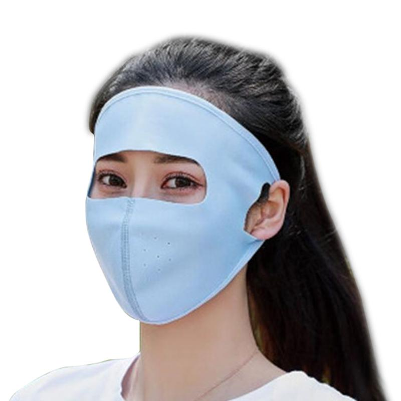 Blue Girls Summer UV Protection Caps Full Face Masks Hiking Outdoors Cheap