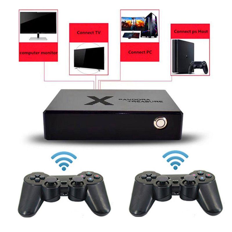 Pandora Box pode armazenar 3100 galeria de jogos de vídeo game 2D / 3D Mini portátil qualidade HD Ligação TV PC etc consola de jogos