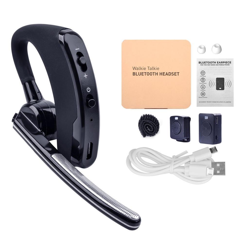 Baofeng talkie-walkie casque PTT écouteur sans fil Bluetooth pour radio à deux voies K Port pour casque UV 5R 82 888s