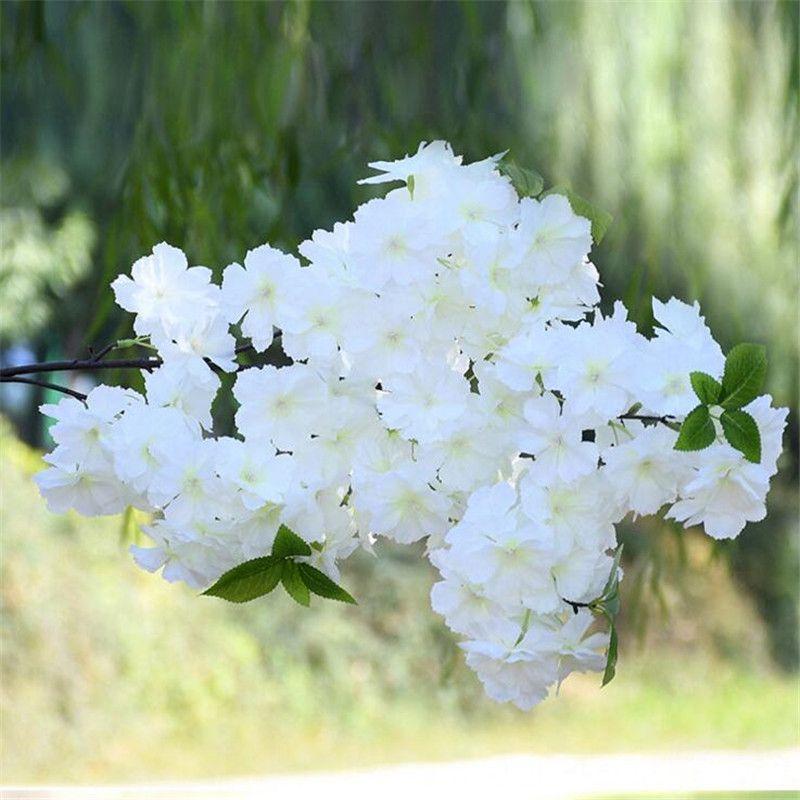 Faux soie Fleur de cerisier Branche Fleur Begonia Sakura Arbre tige pour Arbre de mariage Événement Déco Fleurs artificielles décoratives