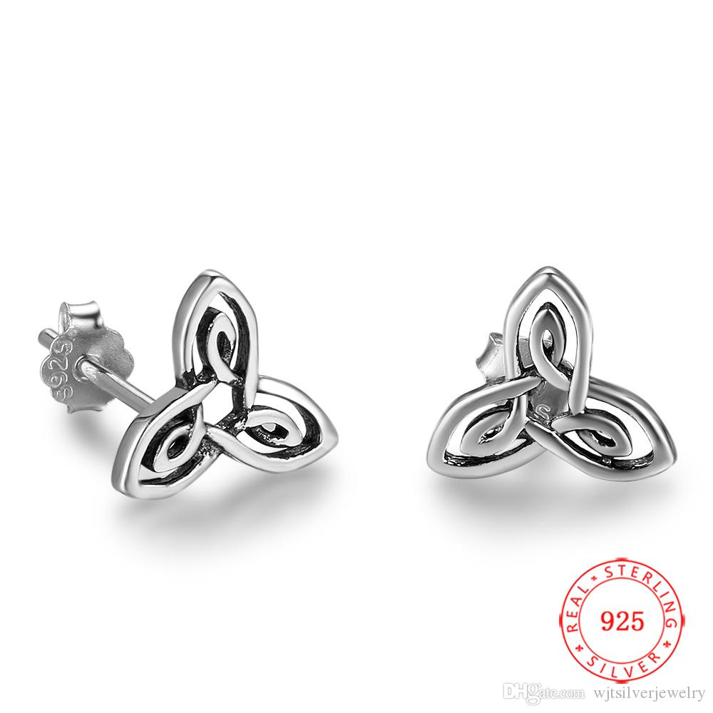 Hand Made flower Design Oxidized Earring Hoops and Flower Charm Silver Necklace Set