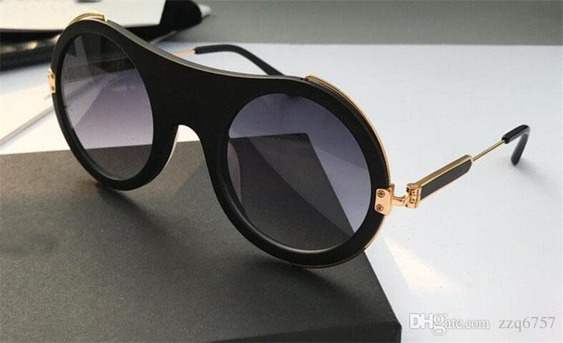 새로운 패션 디자이너 여성 선글라스 라운드 금속 프레임 아방가르드 인기 스타일 uv 400 렌즈 보호 안경