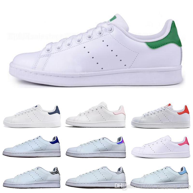 Compre Adidas Stan Smith Mujeres Clásicas Hombres Nuevos Zapatos Stan  Zapatillas De Deporte De Moda Smith Zapatos Casuales Triple Blanco Negro  Verde ...