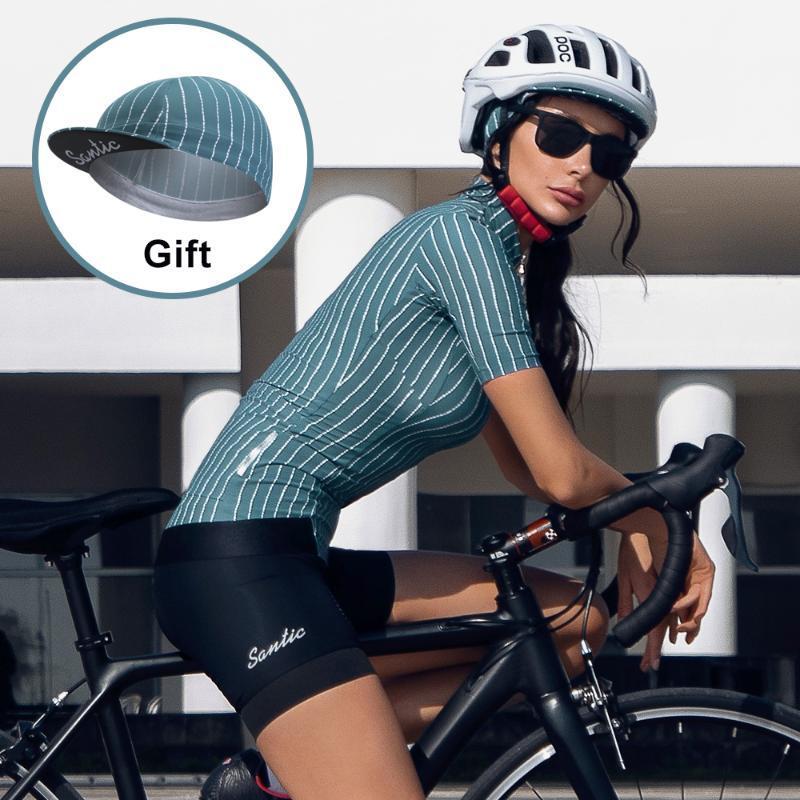 Santic ciclo Jersey 2020 Mujeres Pro Fit camino MTB de la bicicleta MTB jerseys Jersey manga corta de verano S-3XL transpirable L0C02161