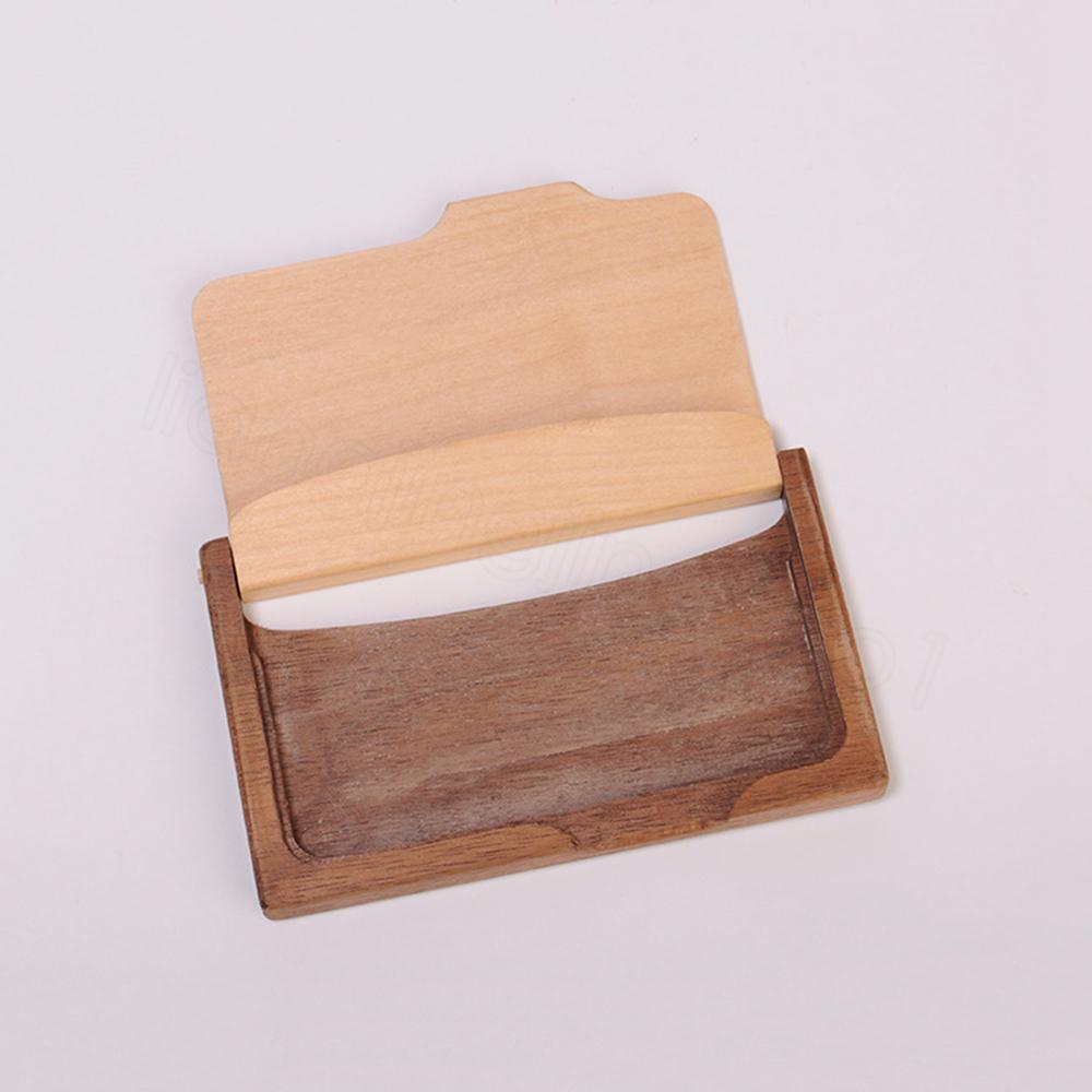 خشبية حامل بطاقة الأعمال الإبداعية الأزياء عالية الجودة الصلبة وظيفة الخشب موضوع تخزين مربع هدية للأصدقاء مكتب الديكور FFA3381