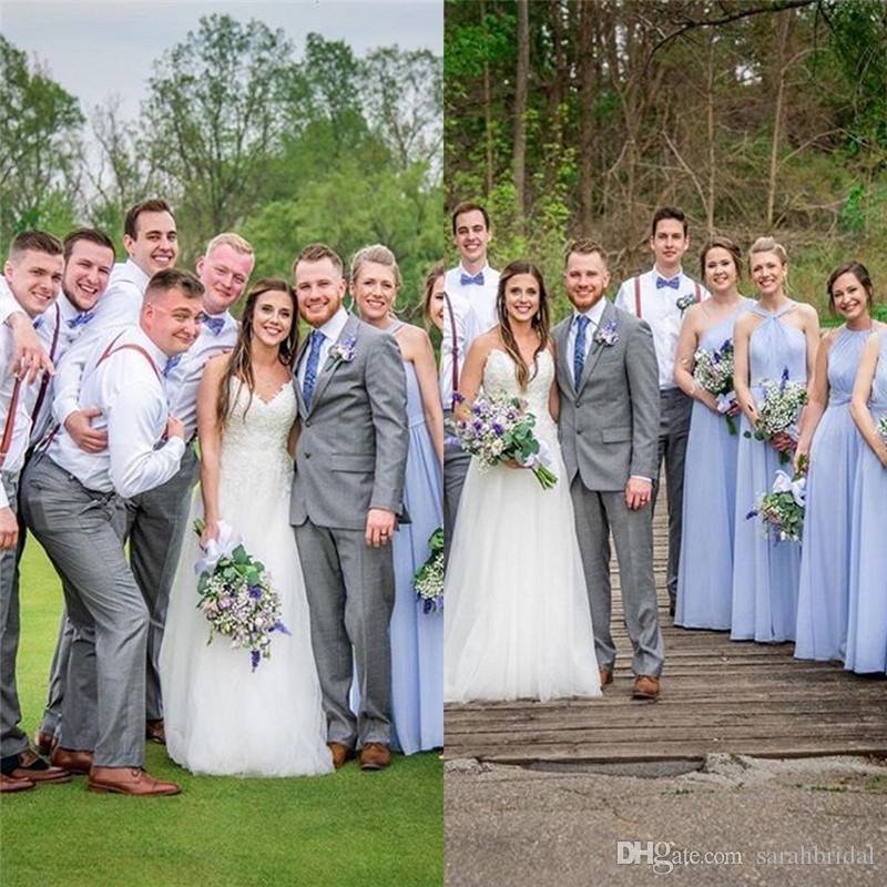 Классический Милая аппликациями Свадебные платья Boho Сад с Тюль Поезд свадебное платье сшитое Country Style