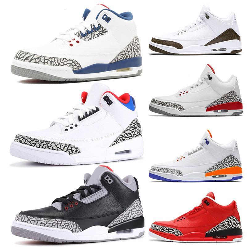 3s Tinker Mocha SEUL Jumpman zapatillas de baloncesto III Knicks Rivals Cemento Internacional Vuelo Katrina Negro Azul Rojo Fuego Ture Marca desinger