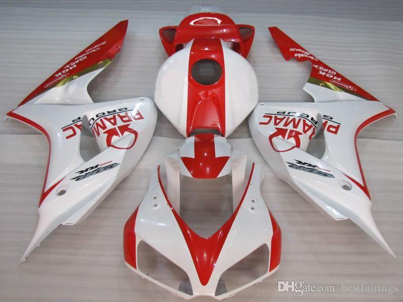 Spritzgussverkleidung für Honda CBR1000RR 2006 2007 rot-weißes Verkleidungsset CBR 1000 RR 06 07 GD26